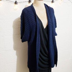NWT Talbots 100% Linen Navy Blue Open Cardigan
